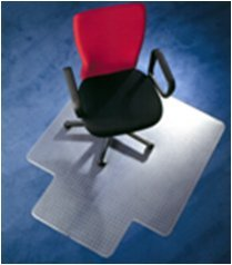 """Chairmat 47"""" x 35"""" - Clear Poly Carbonate Chairmat with Lip - Floortex - 129919SR"""