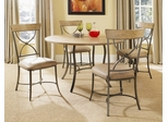 Charleston 5-Piece Round Wood and Metal Dining Set with X Back Chairs - Hillsdale Furniture - 4670DTBC2
