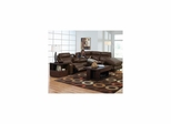 Chastain Leather Entertainment Sectional in Hershey - Catnapper