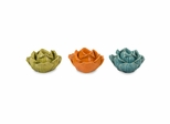 Chelan Flower Candle Holders in Gift Box (Set of 3) - IMAX - 64017-3
