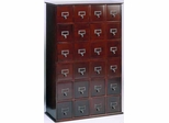Cherry Library Style DVD Cabinet - Leslie Dame DVD Storage - CD-456C