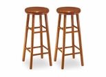 Cherry Swivel Kitchen Bar Stools - Set of 2 - Winsome Trading - 752XX
