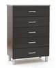 Chest - 5-Drawer Chest in Black Onyx/Charcoal - South Shore Furniture - 3127035