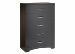 Chest - 5-Drawer Chest in Chocolate - South Shore Furniture - 3159035