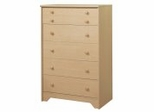 Chest - 5-Drawer Chest in Natural Maple - South Shore Furniture - 2713035