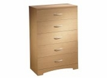 Chest - 5-Drawer Chest in Natural Maple - South Shore Furniture - 3113035