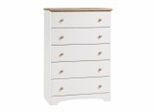 Chest - 5-Drawer Chest in Pure White/Maple - South Shore Furniture - 3263035
