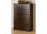 Chest with 5 Drawers in Espresso - Fremont - Prepac Furniture - EDC-3345