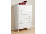 Chest with 5 Drawers in White - Berkshire - Prepac Furniture - WRK-3450