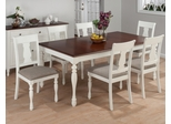 Chesterfield Tavern 7PC Rectangle Table Set in Antique White and Cherry - 693-76