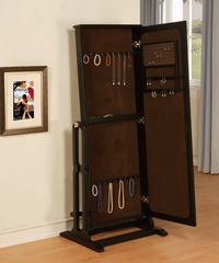 "Cheval Jewelry Wardrobe in ""Antique Black"" - Powell Furniture - 502-551"