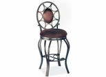 """Chintaly 26"""" Swivel Memory Counter Stool (Set of 2) - Chintaly Furniture - 0727-CS"""