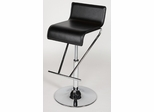 Chintaly Adjustable Black Swivel Bar Stool (Set of 2) - Chintaly Furniture - 6122-AS-BLK