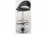 Chintaly Black and Chrome Swivel Bar Stool (Set of 2) - Chintaly Furniture - 6126-AS-BLK