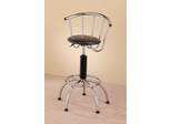 Chrome Plated Bar Stool (Set of 2) in Chrome / Black - Coaster