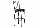"Circle Top Metal Stool 30"" - Linon Furniture - 02811MTL-01-KD"