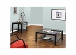 """Coffee Table Set - """"Gloss Black"""" and """"Gloss Silver"""" - Powell Furniture"""