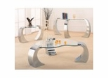 Coffee Table Set in Chrome Plated / Glass - Coaster