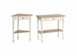 Coffee Table Set in Cottage Oak / Antique White Finish