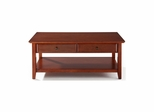 Coffee Table With Storage Drawers in Classic Cherry - CROSLEY-CF1302-CH