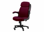 Comfort Big and Tall Pivot Arm Chair in Burgundy - Mayline Office Furniture - 6446AG2112