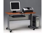 Computer Cart in Medium Cherry/Metallic Gray - Mayline Office Furniture - 8100TDMEC
