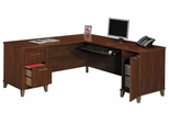Computer Desk L Shape  71 inch - Somerset Collection - Bush Office Furniture - WC81710-03K