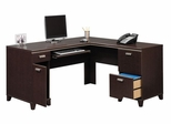 Computer Desk L Shape  - Tuxedo Collection - Bush Office Furniture - WC21830-03