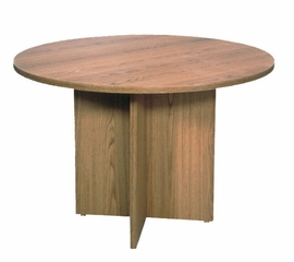 """Conference Table 42"""" Round with 1"""" Top/Slab X-Base - Correll Office Furniture - C42DM"""