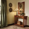 "Console and Mirror - ""Mission Oak"" - Powell Furniture - 993-289"