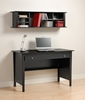 Contemporary Computer Desk and Wall Hutch in Black - Prepac Furniture - BWD-4730-K