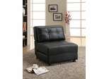 Contemporary Foldable Chair Bed in Black - 300173
