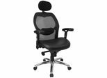 Contemporary Mesh Ventilated Tall Office Chair - LF-W42-L-HR-GG