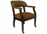 Contemporary Side Chair with Brown Microfiber - B-Z100-BRN-GG