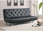 Contemporary Styled Black Sofa Bed - 300304