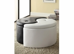 Contemporary Ying-Yang Storage Ottoman - 501104
