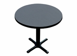 "Corell Breakroom Table -24"" Round x 29"" Tall with 22"" X-Base/Column -BXT24R"