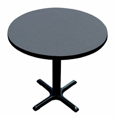 """Corell Breakroom Table -24"""" Round x 29"""" Tall with 22"""" X-Base/Column -BXT24R"""