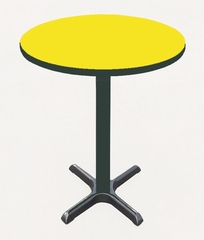 """Corell Breakroom Table -24"""" Round x 42"""" Tall with 22"""" X-Base/Column -BXB24R"""