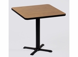 """Corell Breakroom Table -24"""" x 24"""" x 29"""" with 22"""" X-Base/Column -BXT24S"""