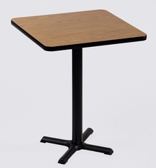 """Corell Breakroom Table -24"""" x 24"""" x 42"""" with 22"""" X-Base/Column -BXB24S"""