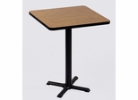 "Corell Breakroom Table -24"" x 24"" x 42"" with 22"" X-Base/Column -BXB24S"
