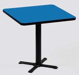 """Corell Breakroom Table -30"""" x 30"""" x 29"""" with 22"""" X-Base/Column -BXT30S"""