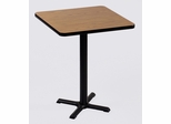 """Corell Breakroom Table -30"""" x 30"""" x 42"""" with 22"""" X-Base/Column -BXB30S"""