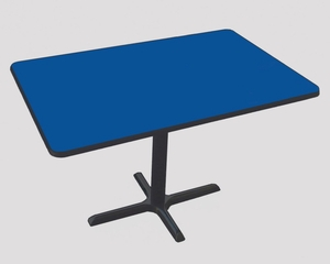 """Corell Breakroom Table -30"""" x 42"""" x 29"""" with Cross Base/Column -BCT3042"""