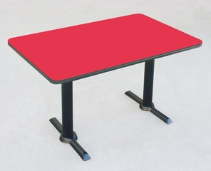 """Corell Breakroom Table -30"""" x 48"""" x 29"""" with T Bases/Columns -BTT3048"""