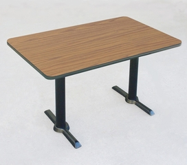 """Corell Breakroom Table -30"""" x 60"""" x 29"""" with T Bases/Columns -BTT3060"""