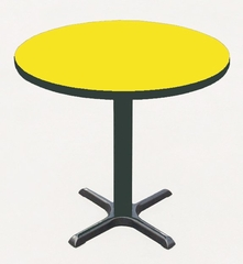 """Corell Breakroom Table -36"""" Round x 29"""" Tall with 30"""" X-Base/Column -BXT36R"""
