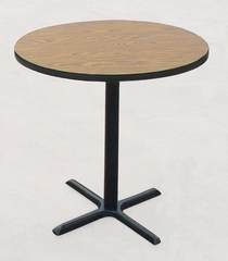 """Corell Breakroom Table -36"""" Round x 42"""" Tall with 30"""" X-Base/Column -BXB36R"""