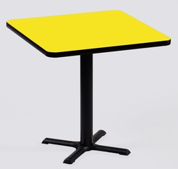 """Corell Breakroom Table -36"""" x 36"""" x 29"""" with 30"""" X-Base/Column -BXT36S"""